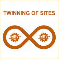 Logo of the ERIH project TWINNING OF SITES, showing a horizontal eight with two inscribed ERIH logos
